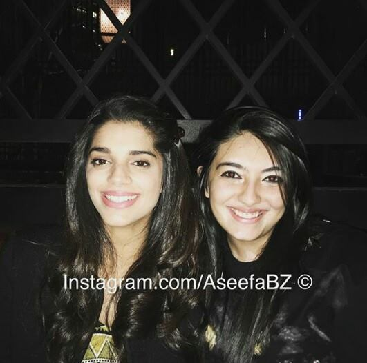 Sanam Saeed with Asifa Bhutoo Zardari
