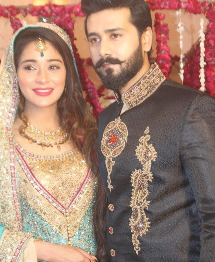 Sara Khan & Ali Abbas During The Shooting