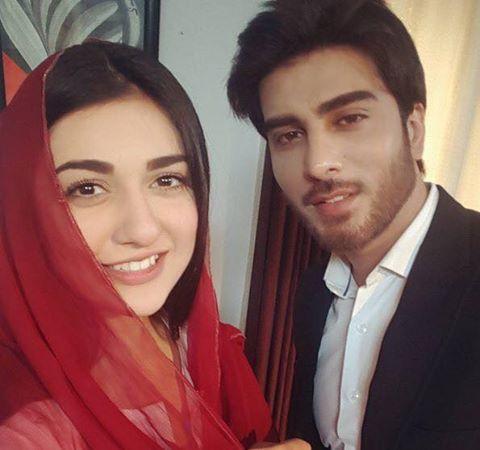 Sarah Khan & Imran Abbas On The Sets Of Upcoming Drama