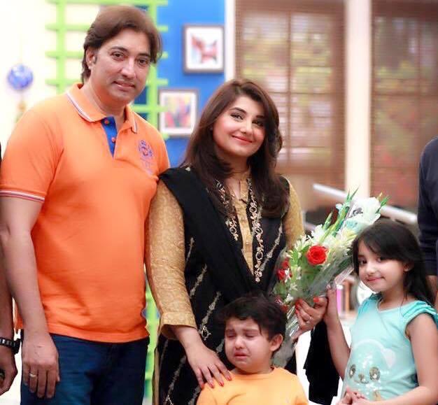 Saud And Javeria With Kids Jannat Saud And Ibrahim Saud