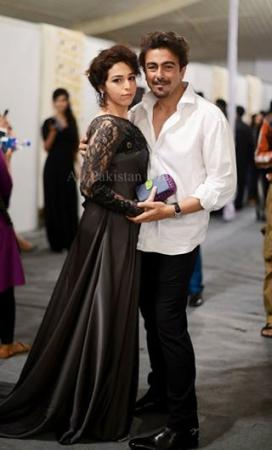 Shaan Shahid With His Wife At Ary Film Awards