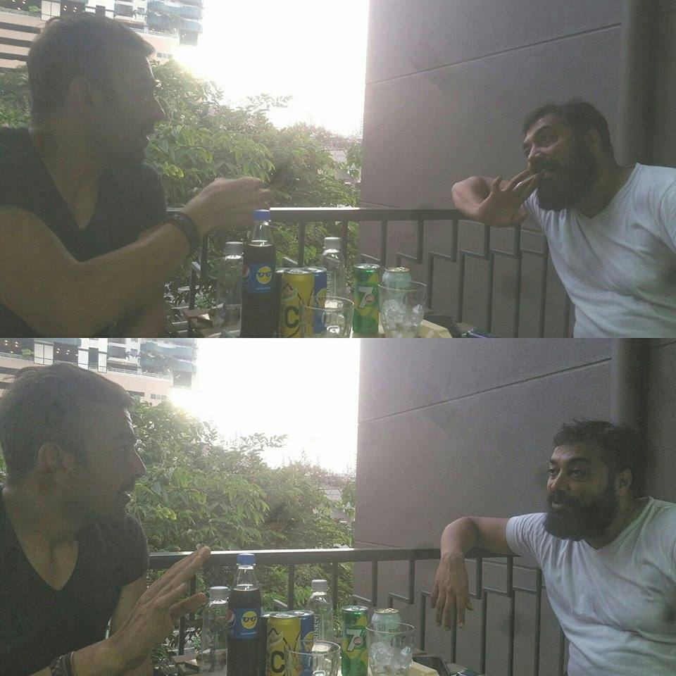 Shaan spotted with Bollywood director Anurag Kashyap