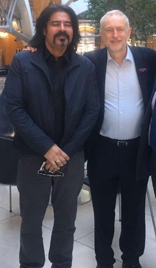 Shafqat Amanat Ali With Leader Of Labour Party (UK) Jeremy Corbyn