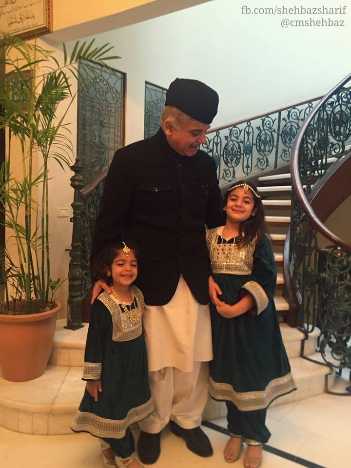 Shahbaz Sharif with his Grand Dauthers