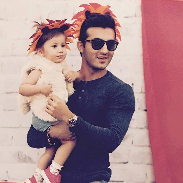 Shahroz Sabzwari with his adorable daughter Nooreh