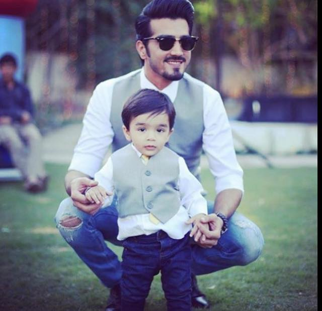 Shahzad Sheikh With His Son