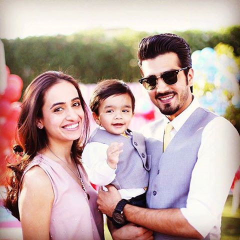 Shahzad Sheikh with his wife and son