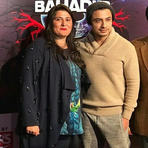 Sharmeen Obaid Chinoy With Ali Zafar At The Premiere Of 3 Bahadur2