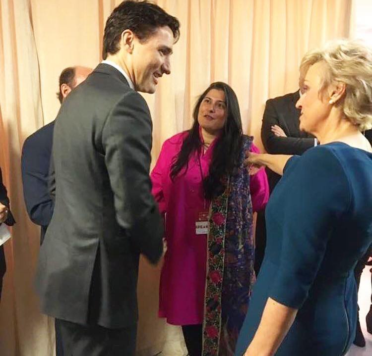 Sharmeen Obaid Chinoy With Canadian PM