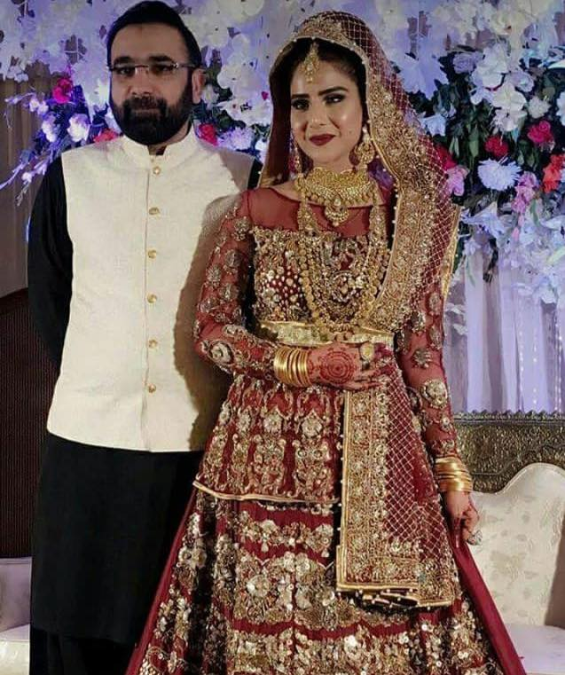 Sheen Javed With Her Husband On Their Wedding