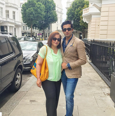 Sheheryar Munawar With His Mother