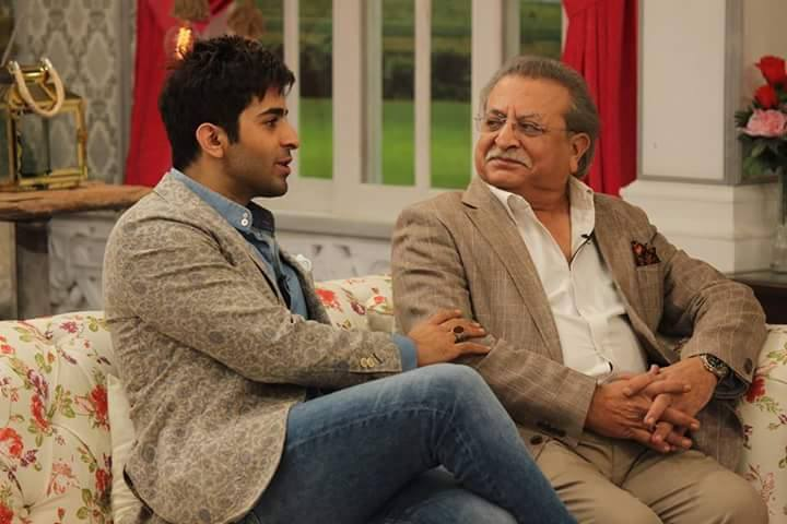 Shehryar Munawwar with his father