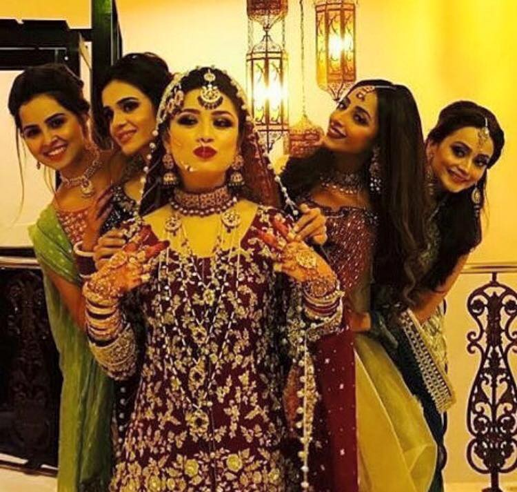 Sidra Batool With Her Friends On Her Wedding