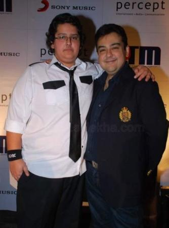 Singer Adnan Sami with his Son