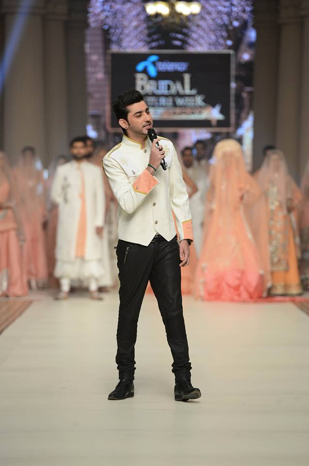 Singer Amanat Ali At Ramp Of Bridal Couture Week in Lahore