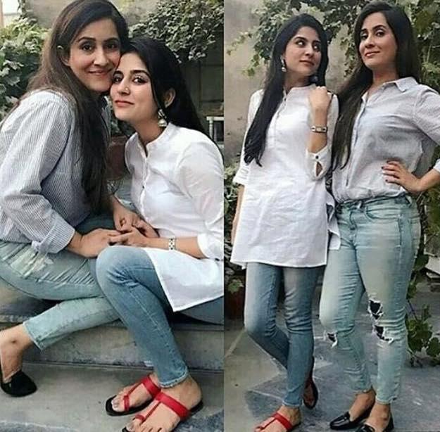 Sisters sanam sabreen baloch arts entertainment for Roohi bano husband name