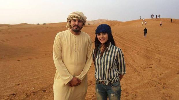 Sohai Ali Abro With A Sheikh In Dubai Desert
