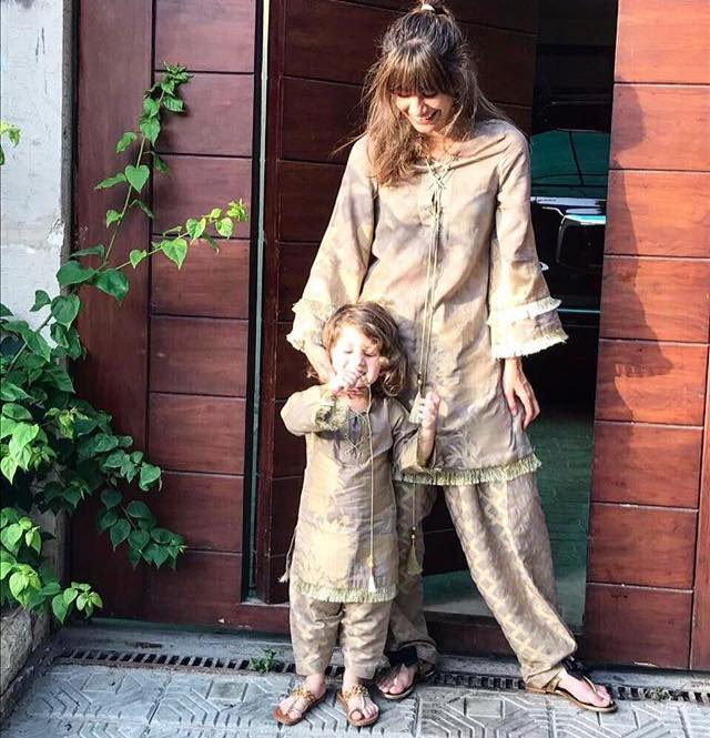 Syra Yousuf Wearing A Matching Outfit With Her Daughter