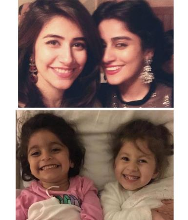 Syra & Alishba With Their Cute Little Daughters