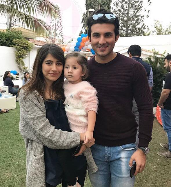 Syra & Shahroz With Their Daughter At A Birthday Party
