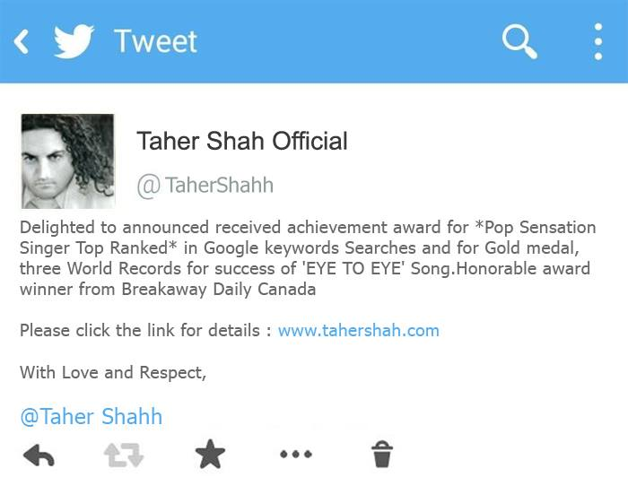 TAHER SHAH Received Achievement Award from Canada
