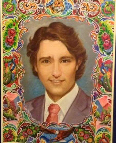 Trudeau, the Canadian Prime Minister in Pakistani Truck Art