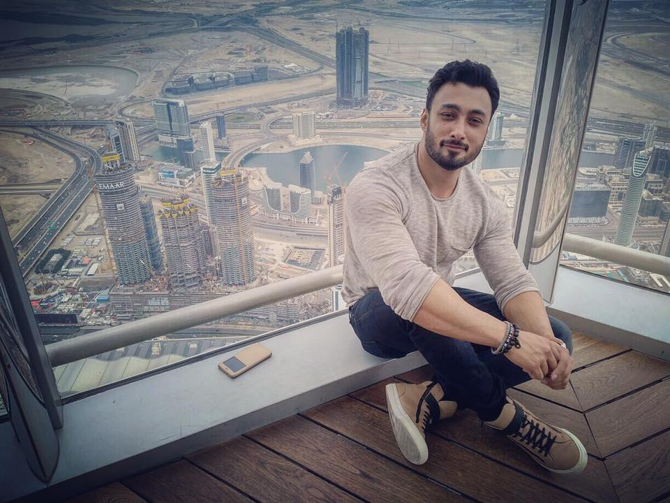Umair Jaswal at Top of Burj Khalifa