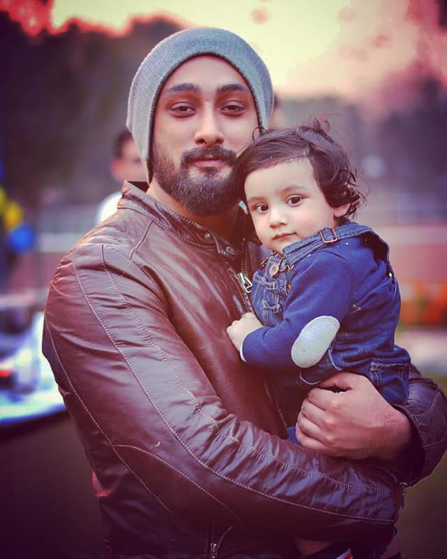 Umair jaswaal with his cute son Rayaan