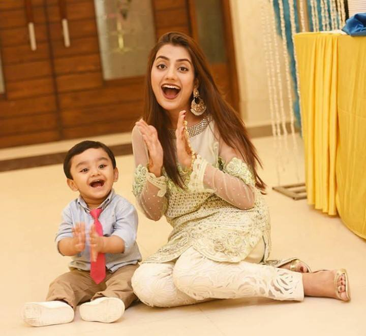 Uroosa Qureshi With Her Son Sohaan