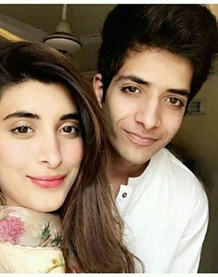 Urwa Hocain‬ with her Brother