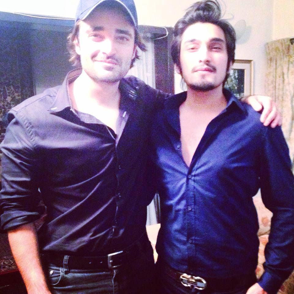 Uzair Jaswal with Hamza Ali Abbasi