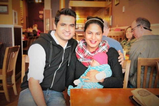 Veena Malik Family Photo With Husband And Son