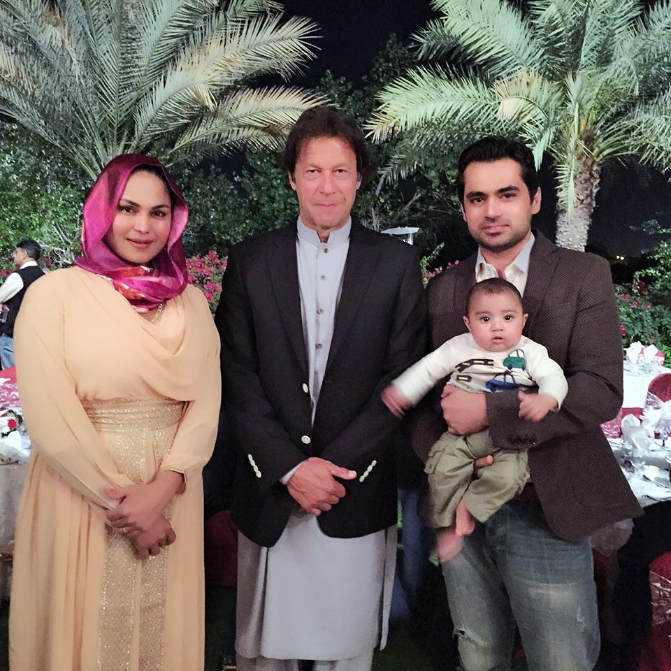 Veena Malik With Asad Bashir Met Imran Khan in Dubai