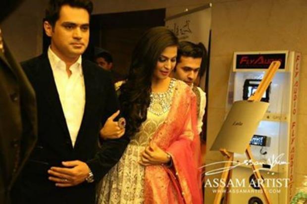 Veena Malik & Her Husband At Pakistan Fashion Week Dubai 2014