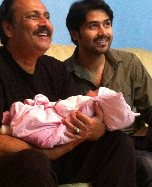 Waseem Abbas With His Son Ali Abbas And Grand Daughter