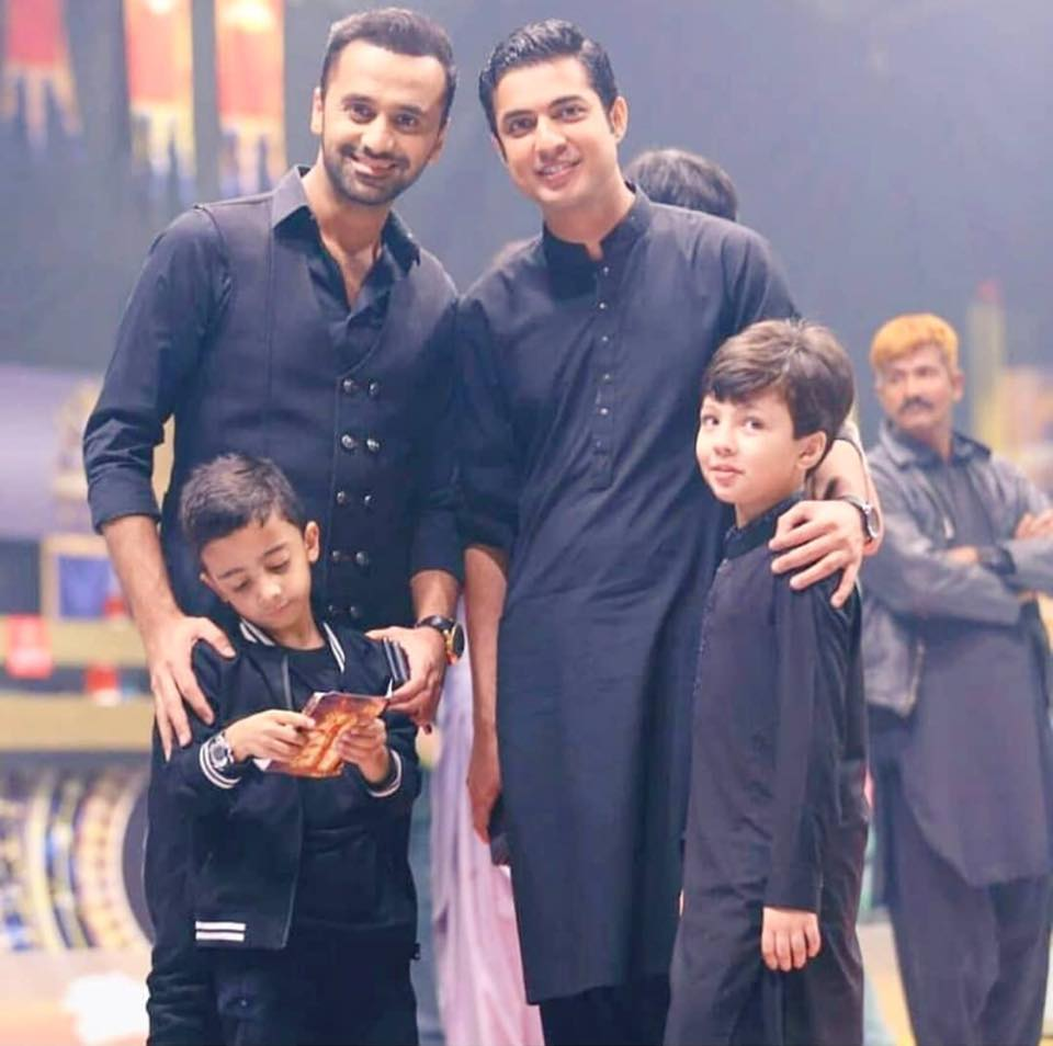 Waseem Badami & Iqrar Ul Hassan With Their Sons