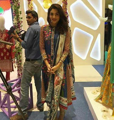 Zahaley Sarhadi at Gul Ahmed Launch