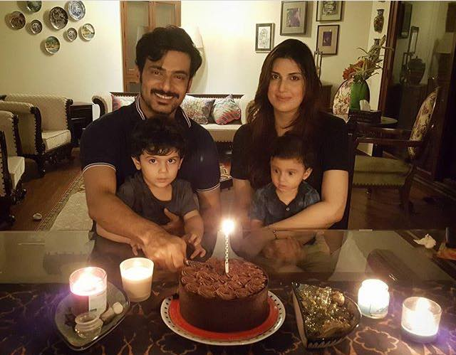 Zahid Ahmed Celebrating His Birthday With His Family