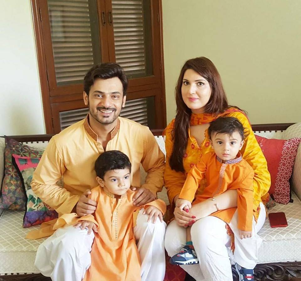 Zahid Ahmed On Eid With Family