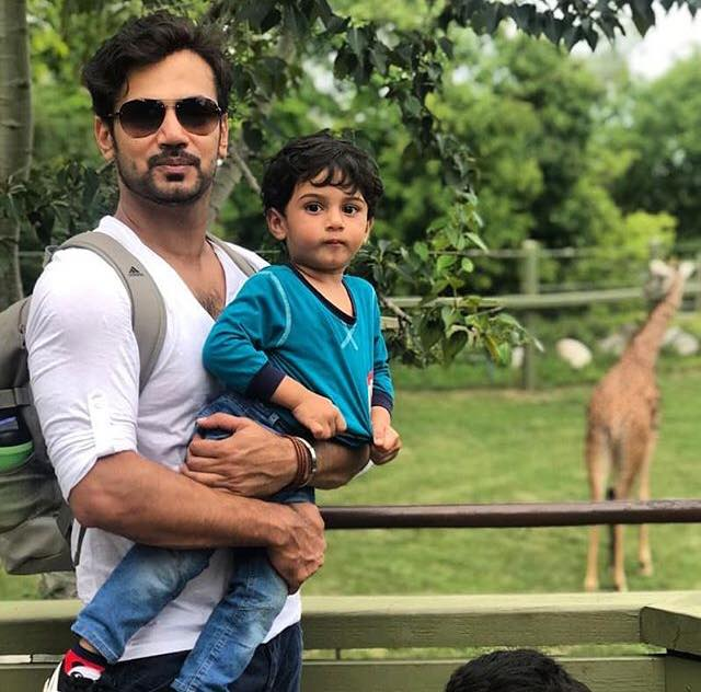 Zahid Ahmed With His Son