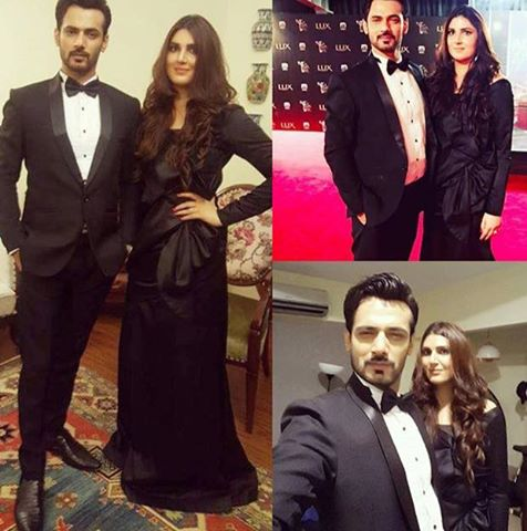Zahid Ahmed With His Wife At Lux Award