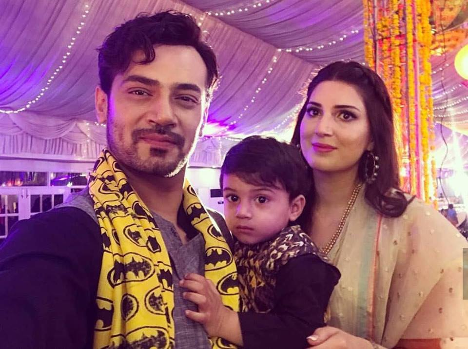 Zahid Ahmed With His Wife & Son