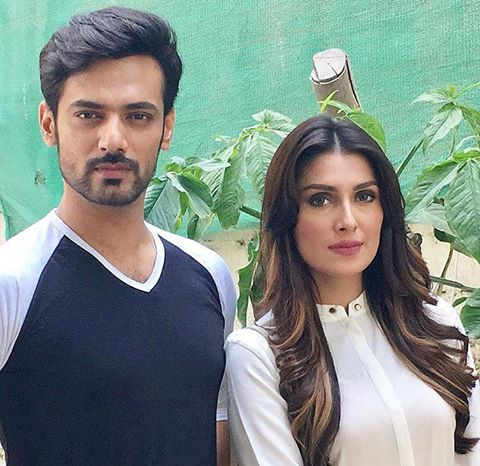 Zahid Ahmed & Ayeza Khan On The Sets