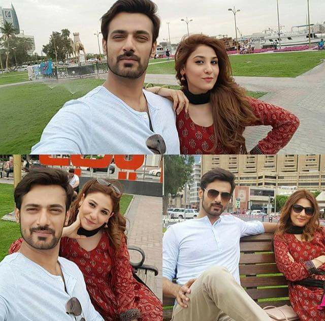 Zahid Ahmed & Hina Altaf Taking Selfies During Shooting