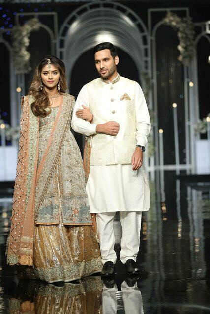 Zaid Ali With His Wife At Bridal Week Fashion Show