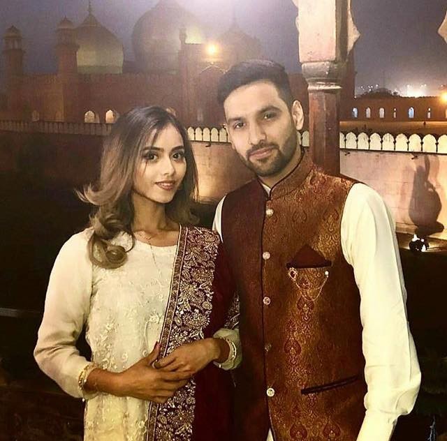Zaid Ali With His Wife Yumna In Lahore