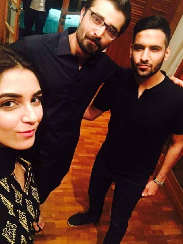 Zaid Ali paid visit On the set of Mann Mayal, selfies with Hamza Ali and Maya Ali