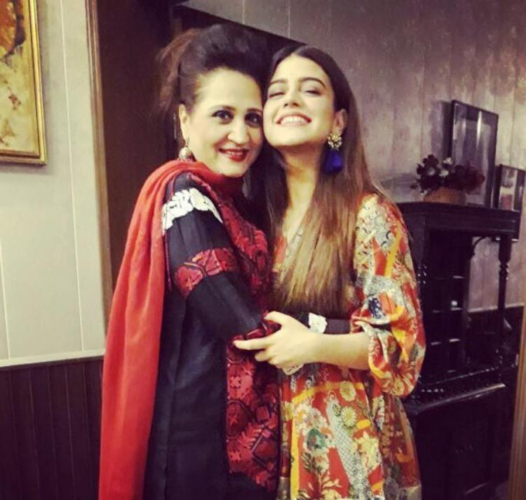 Zara Abbas With Her Mother Asma Abbas