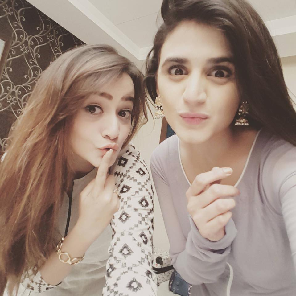 Zarnish Khan And Hira Mani