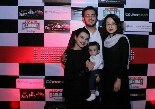 Zeba Bakhtiar With Son Azaan Sami His Wife And